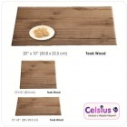 Wooden Slates - Teak wood