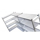 High Density Aluminium Shelving System With Polyethylene Slats